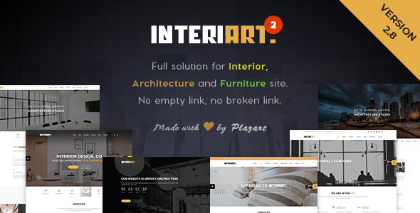 InteriArt v2.8 — Furniture & Interior WordPress Theme