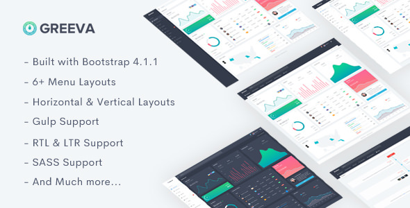 Greeva — Responsive Admin Dashboard Template