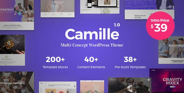 Camille v1.0.2 — Multi-Concept WordPress Theme