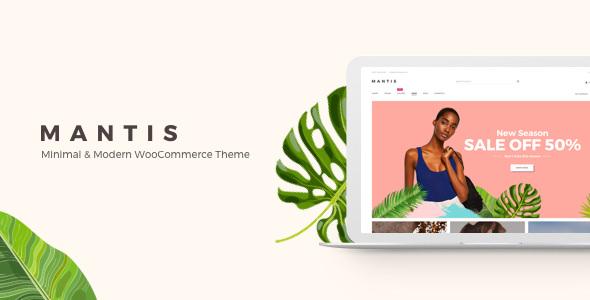 Mantis v1.0.5 — Minimal & Modern WooCommerce Theme