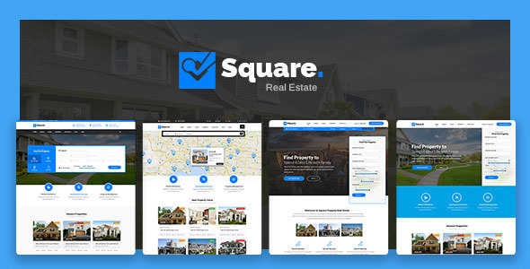 Square — Professional Real Estate PSD Templates