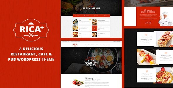 Rica Plus v1.6 — A Delicious Restaurant, Cafe & Pub WP Theme