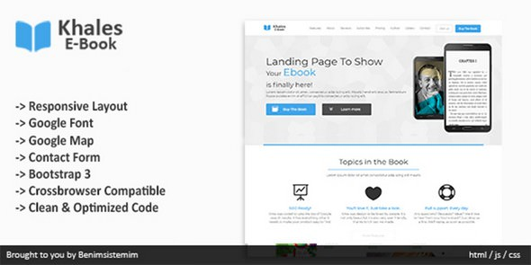 Khales EBook — Responsive Book Landing Page