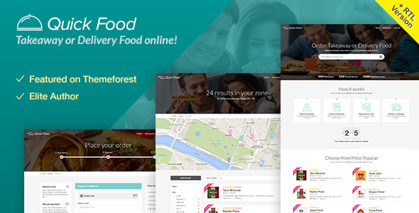 QuickFood v1.8 — Delivery or Takeaway Food Template
