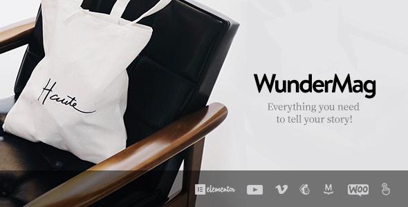 WunderMag v2.2.0 — A WordPress Blog / Magazine Theme