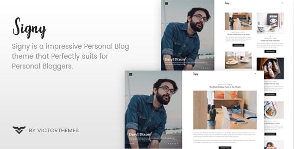 Signy v1.4 — A Personal Blog WordPress Theme
