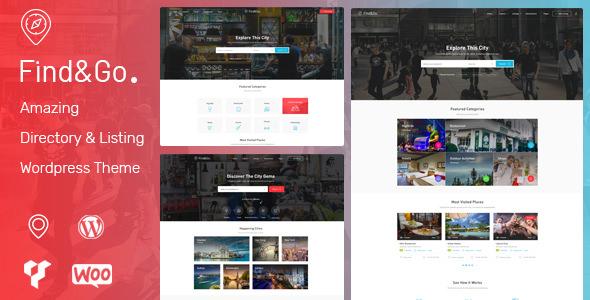 Findgo v1.2.28 — Directory & Listing WordPress Theme