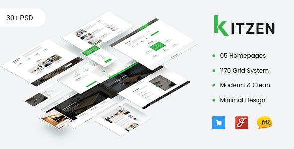 Kitzen — Modern Kitchen PSD Template
