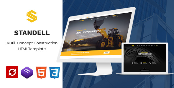 Standell — Multipurpose Construction HTML Template