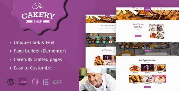 Cakeryshop v2.2 — Cake WordPress Theme