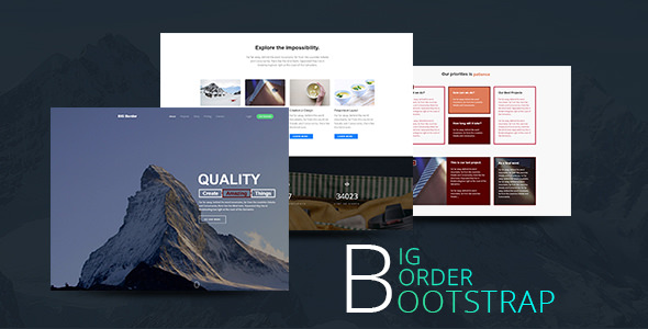 BIG Border — Creative One Page Parallax Bootstrap Template