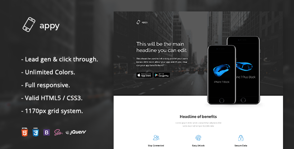 Appy — App Landing Page HTML Template
