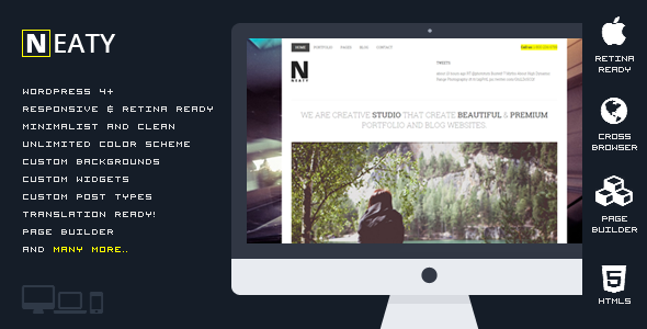 Neaty v1.0.1 — Responsive Portfolio WordPress Theme