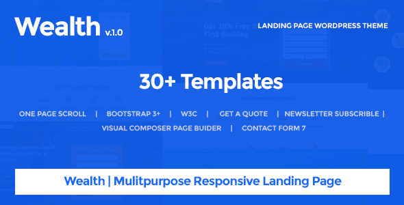 Wealth v1.2.6 — Multi-Purpose Landing Page Theme