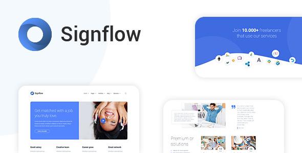 Signflow v1.4.5 — Ultra Modern Tech & Startup Theme
