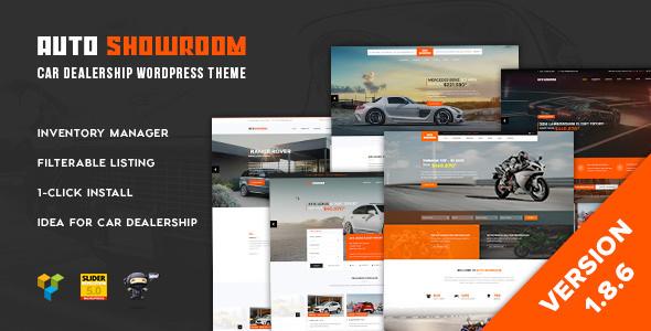 Auto Showroom v1.8.6 — Car Dealership WordPress Theme
