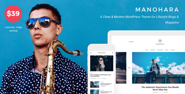 Manohara v1.2.0 — Modern Lifestyle Blog & Magazine Theme