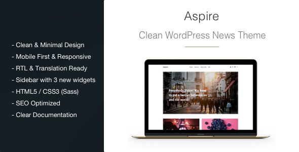Aspire v1.2.8 — News & Magazine Clean WordPress Theme