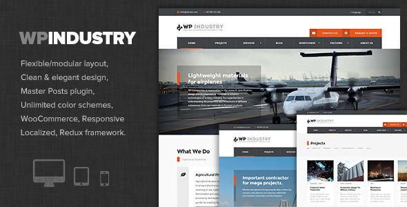 WP Industry v1.5 — Industrial & Engineering WP theme
