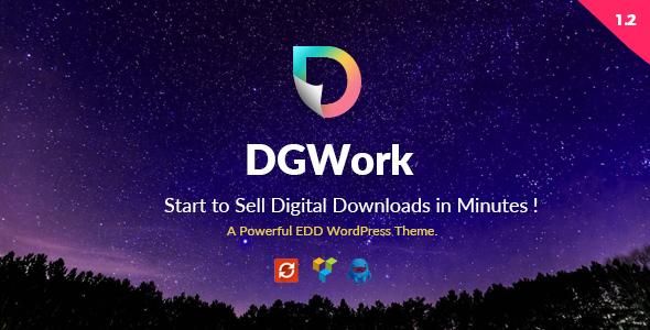 DGWork v1.3.8 — Powerful Responsive Easy Digital Downloads