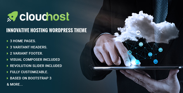 CloudHost v1.0.7 — Responsive Hosting WordPress Theme