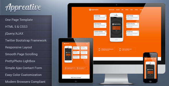 Appreative — Responsive Landing Page Template