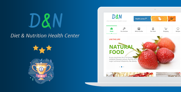 Diet & Nutrition Health Center v3.0 — WordPress Theme