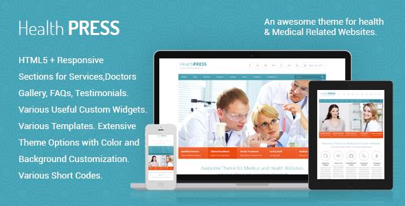 HealthPress v1.7.2 — Health and Medical WordPress Theme
