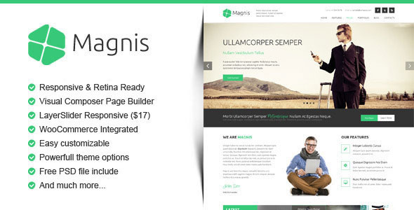 Magnis v2.2.0 — Corporate Multipurpose WordPress Theme
