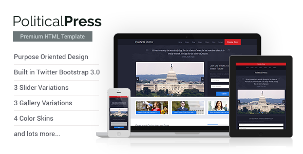 Political Press — HTML Template