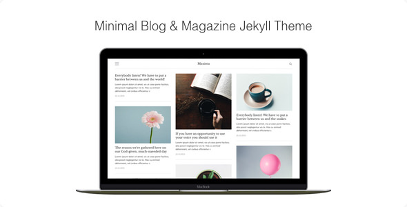 Maxima — Minimal Blog and Magazine Jekyll Theme