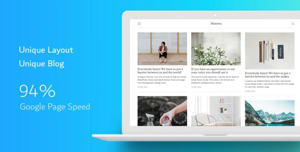 Maxima — Minimal Blog and Magazine Ghost Theme