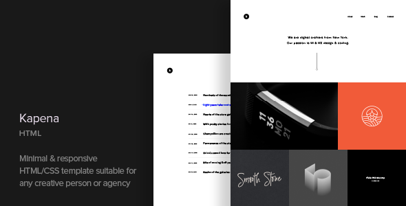 Kapena v1.1 — Responsive Portfolio HTML Template