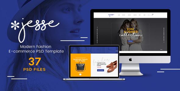Jesse — Modern Fashion e-commerce PSD Template