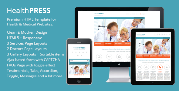HealthPress v1.1 — Health and Medical HTML Template