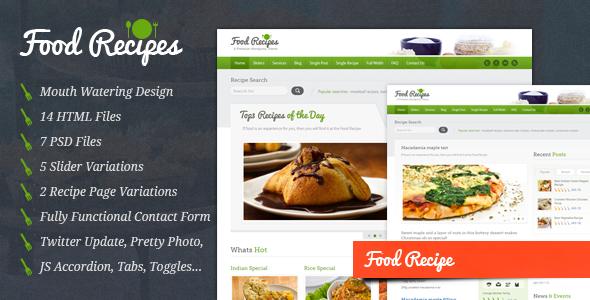 Food Recipes v2.0 — Food Website and Blog Template