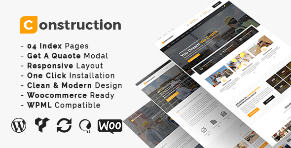 Construction v3.4 — Construction And Building Business Theme