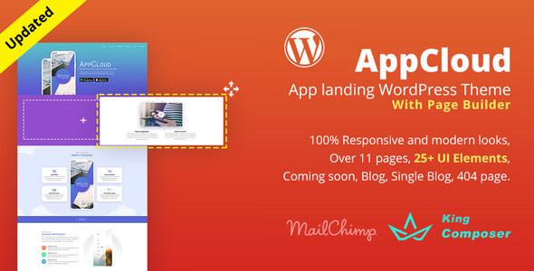 AppCloud v1.0.6 — App Landing WordPress Theme
