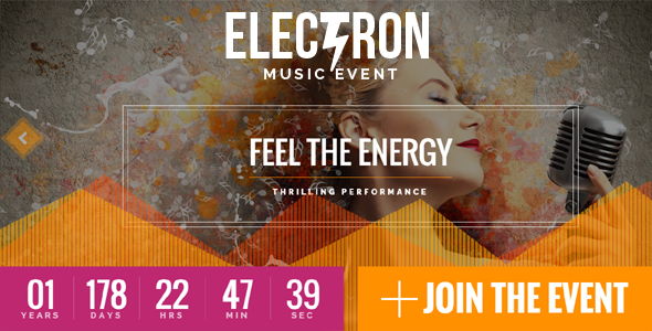Electron v1.5.1 — Event Concert & Conference Theme