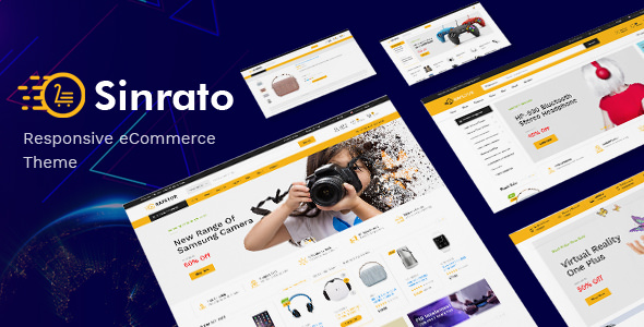 Sinrato — Mega Shop OpenCart Theme (Included Color Swatches)
