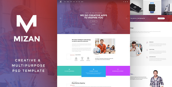 MIZAN — Creative & Multipurpose PSD
