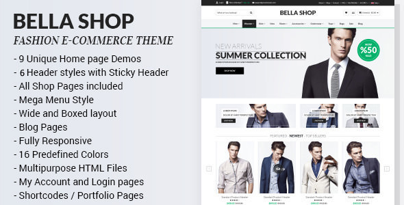 Bella — eCommerce HTML Shop with RTL