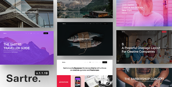 Sartre v1.1.19 — Responsive Multipurpose Theme for Creatives
