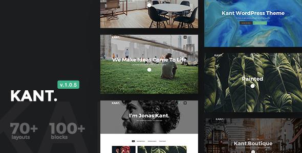 Kant v1.0.5 — A Multipurpose WordPress Theme for Startups