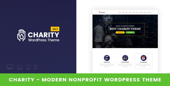 Charity v1.2 — Nonprofit WordPress Theme