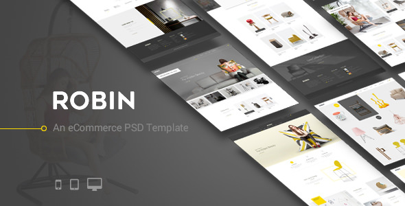 Robin — An eCommerce PSD Template