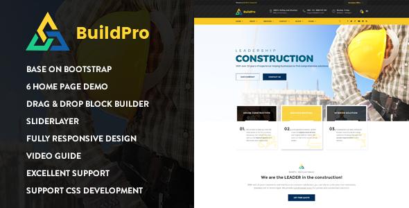 BuildPro — Construction Drupal 8.6 Theme