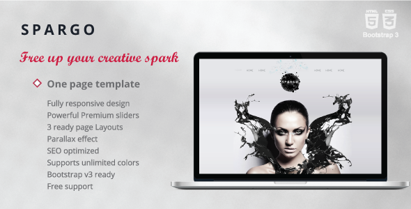 Spargo — Responsive Single Page Template