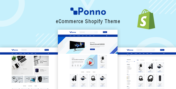 Ponno — Electronics eCommerce Shopify Theme + RTL + Dropshipping