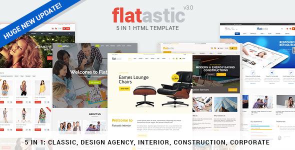 Flatastic v3.0 — Premium Versatile HTML Template